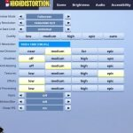HighDistortion Fortnite Video Settings