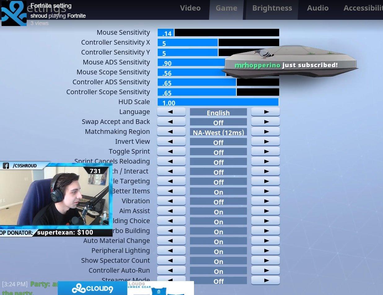 mouse settings gallery - fortnite building sensitivity