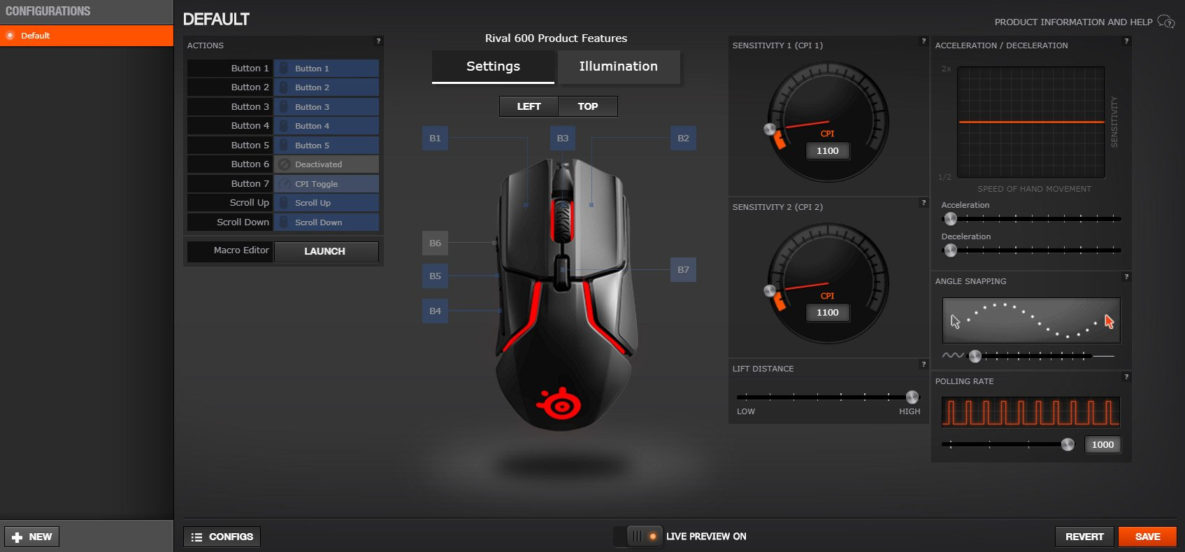 SteelSeries Rival 600 Gaming Mouse Review - ProSettings com