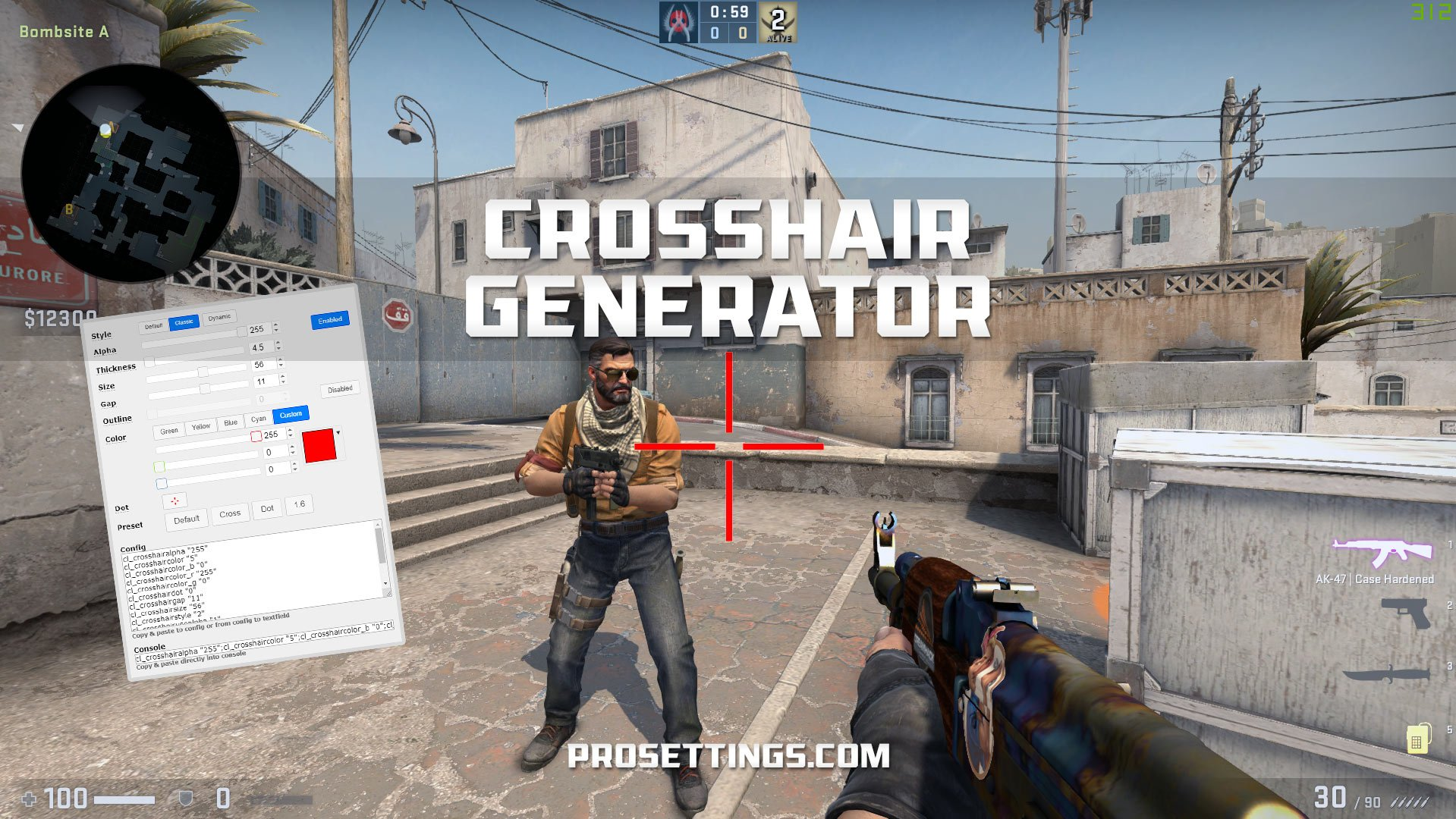 Crosshair Generator for CS:GO - ProSettings Pro Tools