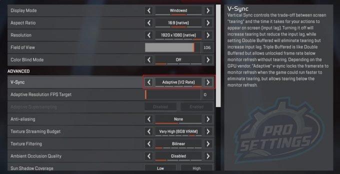 Apex Legends V-Sync