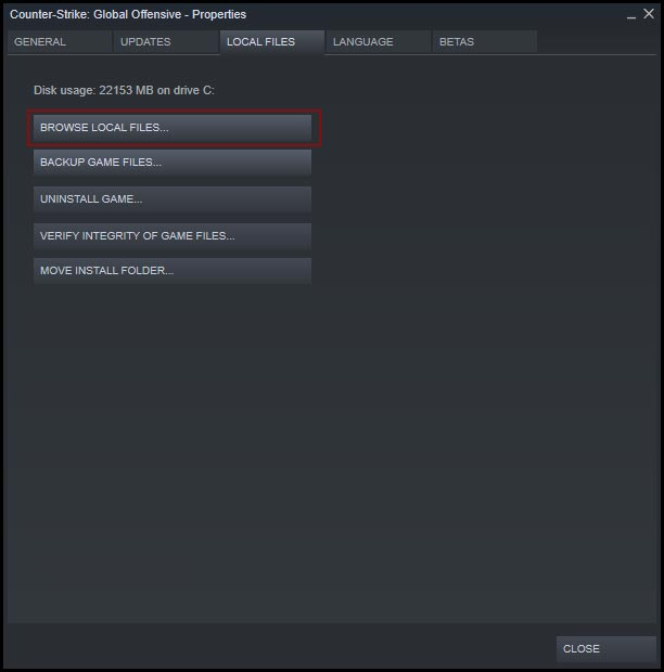 Steam CS:GO config location